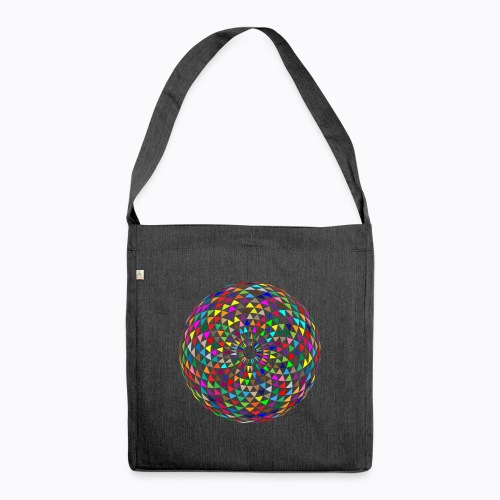 mandala sphere - Shoulder Bag made from recycled material