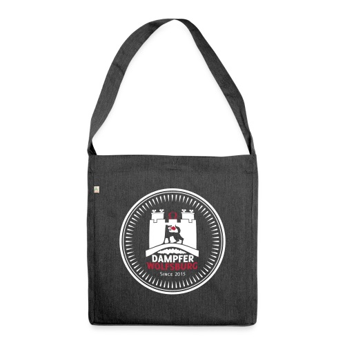rz_logo_badge_auf_schwarz - Schultertasche aus Recycling-Material