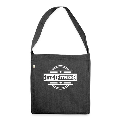 1st4Fitness White Back & Front - Shoulder Bag made from recycled material
