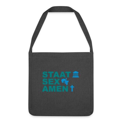 Staatsexamen / Staat Sex Amen - Schultertasche aus Recycling-Material