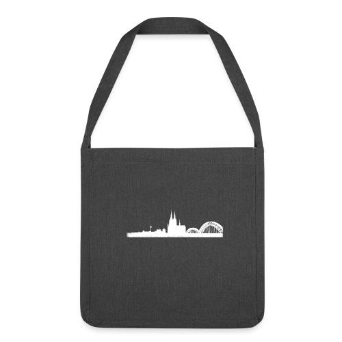 Köln-Skyline - Schultertasche aus Recycling-Material
