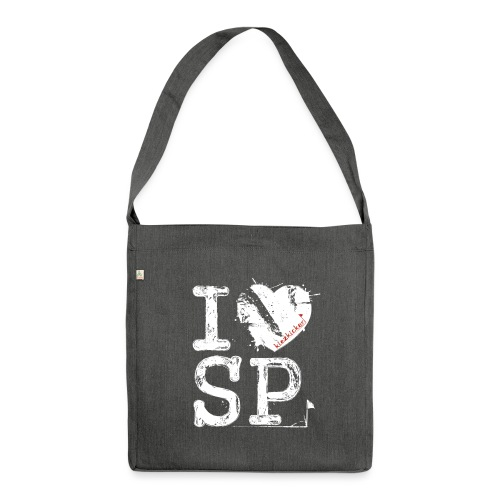 I love SP - Schultertasche aus Recycling-Material