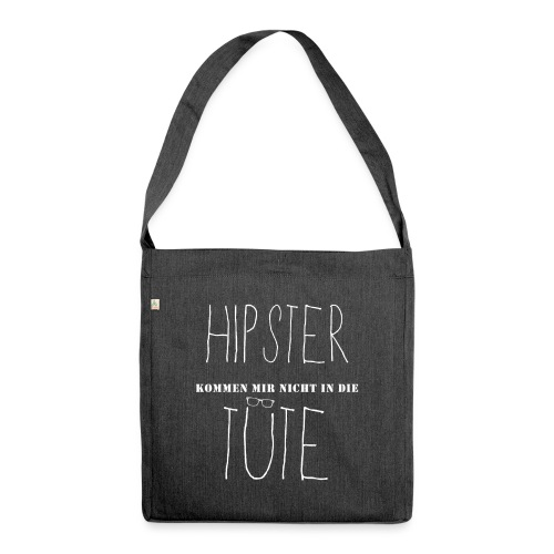 No Hipster - Schultertasche aus Recycling-Material