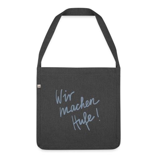 Wir_machen_Hufe - Schultertasche aus Recycling-Material