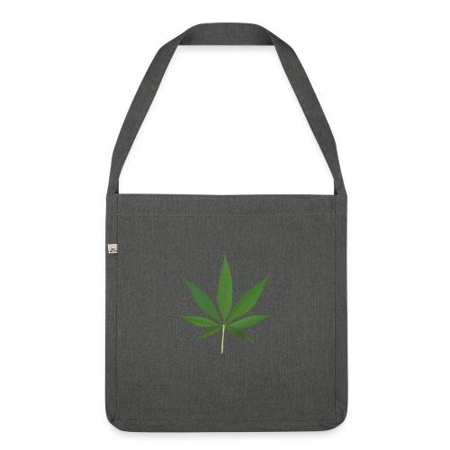 2000px-Cannabis_leaf_2 - Skuldertaske af recycling-material