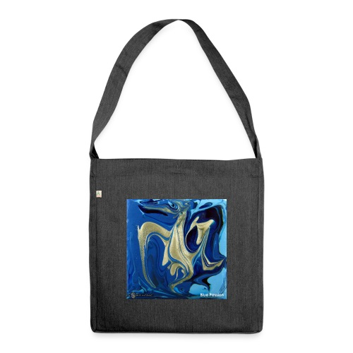 TIAN GREEN Welt Mosaik - AT042 Blue Passion - Schultertasche aus Recycling-Material