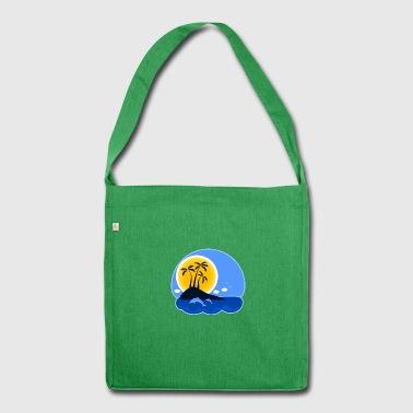 Urlaub Insel - Schultertasche aus Recycling-Material