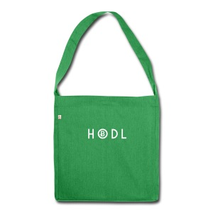 Hodle Bitcoins - White Design - Shoulder Bag made from recycled material