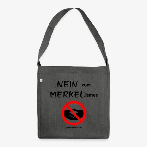 NEIN zum MERKELismus - Schultertasche aus Recycling-Material