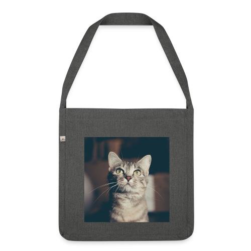 Hauskatzen Blick - Schultertasche aus Recycling-Material