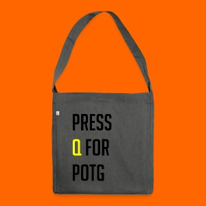 Press Q for play of the game - Shoulder Bag made from recycled material