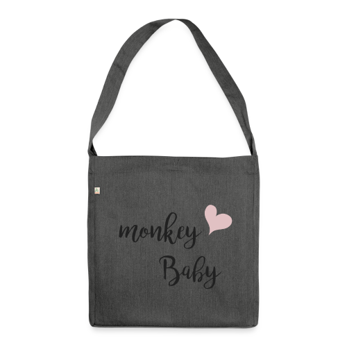 monkey baby - Schultertasche aus Recycling-Material