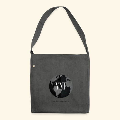 YesterdayNowForever-Logo - Schultertasche aus Recycling-Material