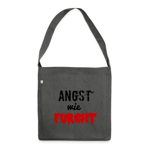 angstwiefurcht_v1 - Schultertasche aus Recycling-Material
