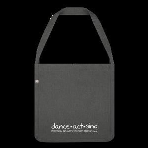 Dance!Sing!Act! weiss - Schultertasche aus Recycling-Material