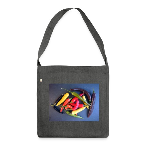 Chili bunt - Schultertasche aus Recycling-Material