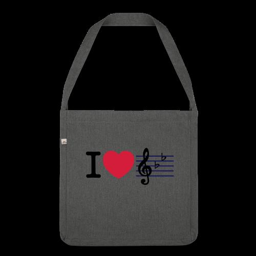 Musik - Schultertasche aus Recycling-Material