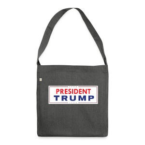 President Trump (White) - Shoulder Bag made from recycled material