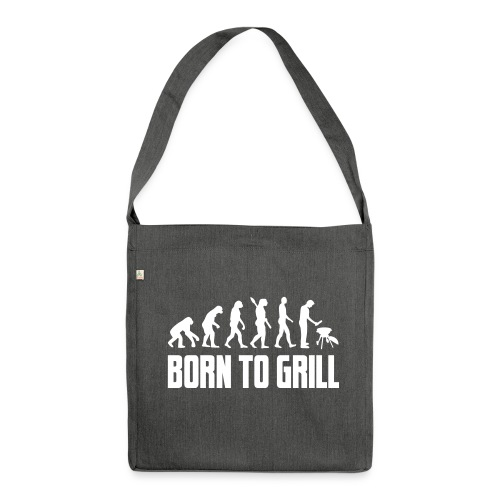 born to grill evolution - Schultertasche aus Recycling-Material