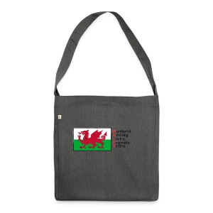 wales_letters - Shoulder Bag made from recycled material