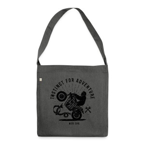 Two Wheeled Ape Wheelie Biker T shirt - Shoulder Bag made from recycled material