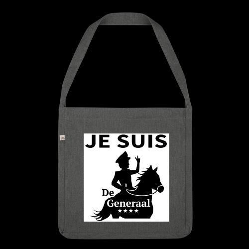 JE SUIS De Generaal (zwart op zit) - Schoudertas van gerecycled materiaal
