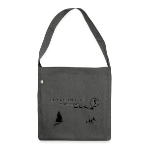 Claret and Blue Xmas - Shoulder Bag made from recycled material