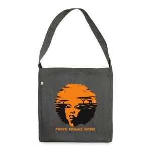 Strong Black Woman - Schultertasche aus Recycling-Material