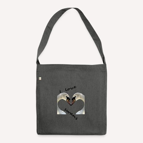 I love swans - Schultertasche aus Recycling-Material