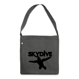 Skydive Silhouette - Schultertasche aus Recycling-Material
