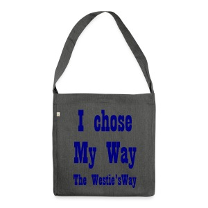 I chose My Way Navy - Shoulder Bag made from recycled material
