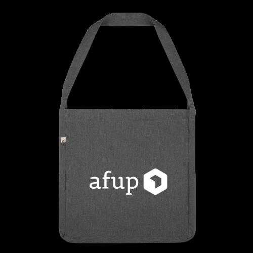 Logo AFUP Blanc - Sac bandoulière 100 % recyclé