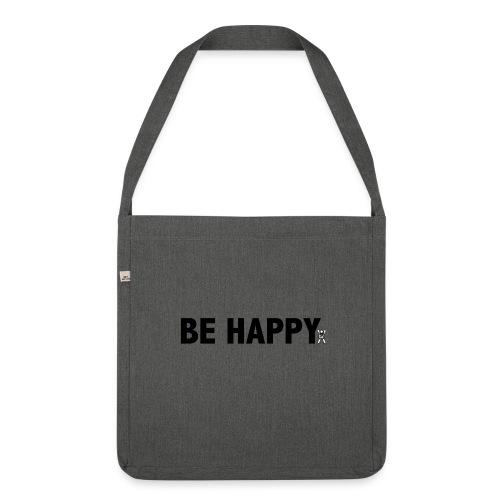 Be Happy - Schoudertas van gerecycled materiaal