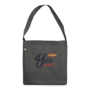 YES-we did it_black - Schultertasche aus Recycling-Material