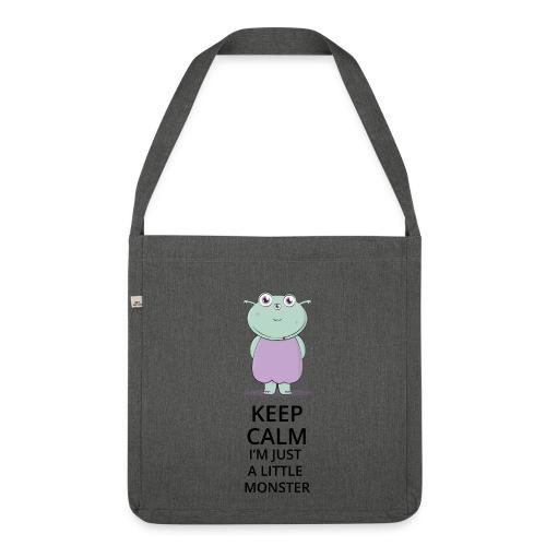 Keep Calm - Little Monster - Petit Monstre - Sac bandoulière 100 % recyclé