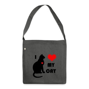 I love my cat - Sac bandoulière 100 % recyclé