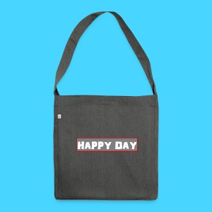happy_day - Schultertasche aus Recycling-Material