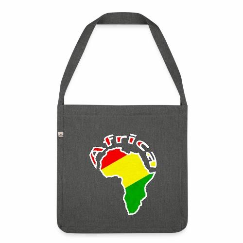 Afrika - rot gold grün - Schultertasche aus Recycling-Material
