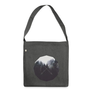 Misty Forest Blended With Crossed Arrows - Borsa in materiale riciclato
