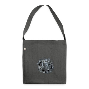 floral grunge - Schultertasche aus Recycling-Material