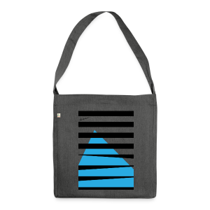 Stripes Blue - Schultertasche aus Recycling-Material
