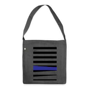 Royal Blue Stripes - Schultertasche aus Recycling-Material