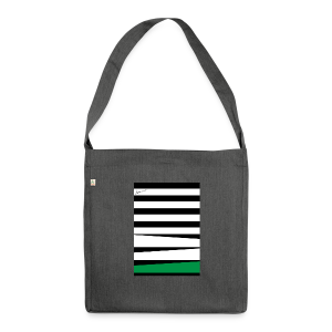 Stripes Green - Schultertasche aus Recycling-Material