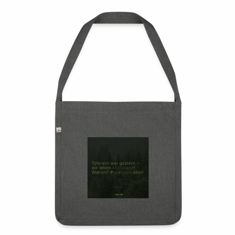 #weilbaum-T-Shirt Akzeptanz - Schultertasche aus Recycling-Material