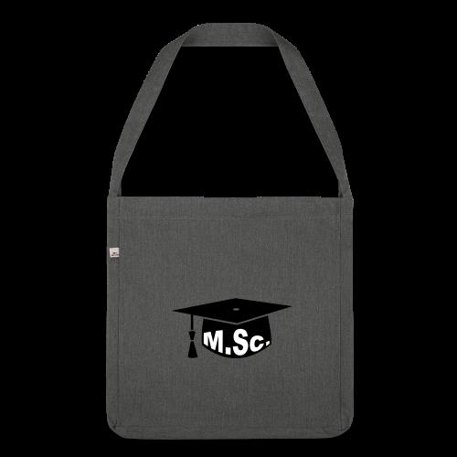 Doktorhut Master of Science M.Sc Doktorarbeit - Schultertasche aus Recycling-Material