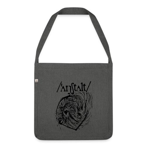 logo mit wesen (schwarz) - Schultertasche aus Recycling-Material