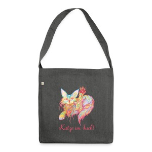 Katze im Sack Nr. 2 - Schultertasche aus Recycling-Material