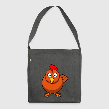 Huhn - Schultertasche aus Recycling-Material