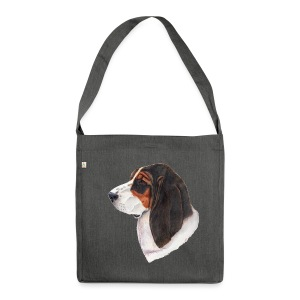 bassethound color - Skuldertaske af recycling-material