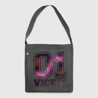 Vicky name - Shoulder Bag made from recycled material